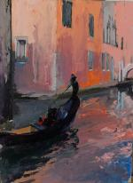 Gondola in a quiet canal